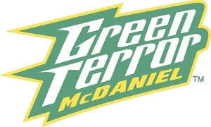"New ""Green Terror"" logo, unveiled on June 19 by McDaniel College."